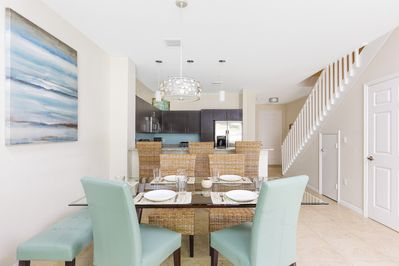 Dining - The open dining table for your group.