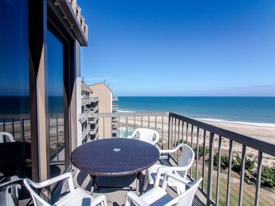 Photo for D909: 1BR Sea Colony oceanfront penthouse | Private beach, pools, tennis ...