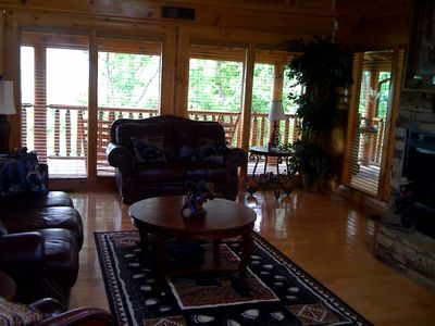 """Comfy 2 story Livingroom with 60"""" HDTV w/ SURROUND SOUND and Blu-Ray player"""