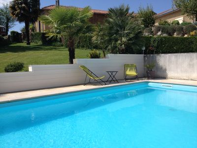 Photo for Villa with pool beautiful view of hills and Pyrenees