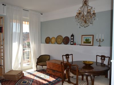 Photo for Elegant Sanremo apartment, 200m from the sea, 100m from amenities. Sleeps 5