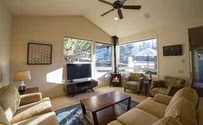 Photo for 5 minutes to Old Mill and Downtown Bend, Mid-Century Modern with Mountain Twist, half acre, air cond