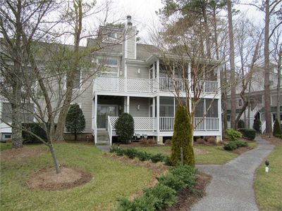 Photo for 20003 Twin Lakes Court: Pond view! Sea Colony West. Pool. Tennis. Walk/Bike Paths and more