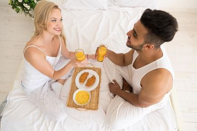 Breakfast in bed are the norm at the Villa.   Enjoy our organic & deluxe continental breakfasts at your leisure!