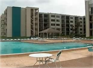 Pool area - unit for rent is directly above Gazebo with view over gazebo ocean