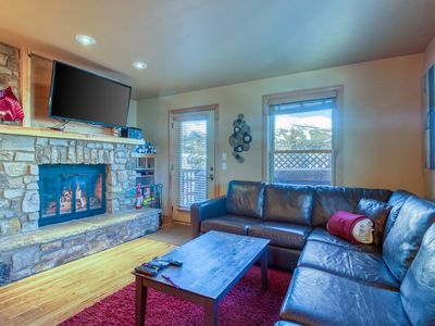 Photo for Beautiful condo w/ private hot tub - short walk to Breckenridge gondola