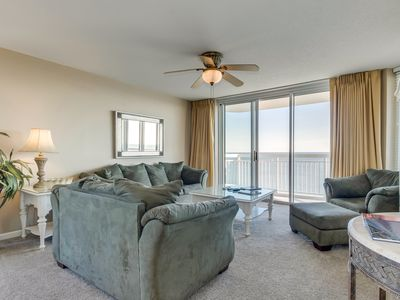 Photo for Luxury oceanfront condo - full kitchen, private balcony, indoor/outdoor pools