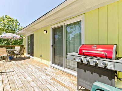 Balcony has Gas Grill for guest use