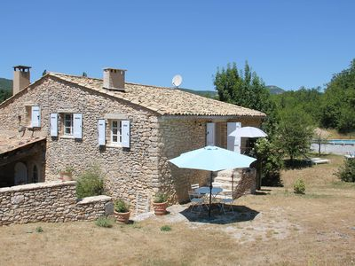 Photo for Cottage in a stone farmhouse completely renovated with swimming pool 2 km from the village