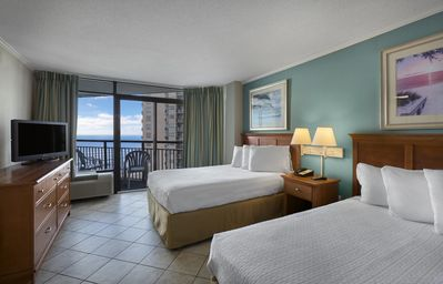 Photo for Deluxe Angle Oceanfront Suite w/ 2 Balconies + Official On-Site Rental Privilege