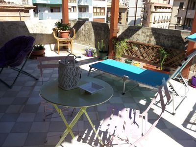 Photo for The terraces of Marilyn - holiday house with large terrace - Palermo