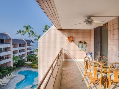 Photo for White Sands Village #309 - Comfortable condo with partial ocean view, walking distance to beach, In Kailua-Kona