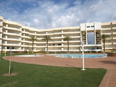 View of Complex from Garden and Pool