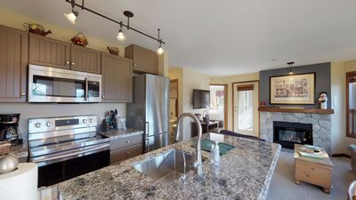 Photo for Unique End Slopeside Unit with 270 degree views of Ski Hill, Upper Village and the Courtyard.  Recently Renovated and Luxurious, Ski-in Ski-out, Free WiFi