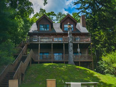 Photo for Lakefront log home in the heart of Deep Creek Lake!