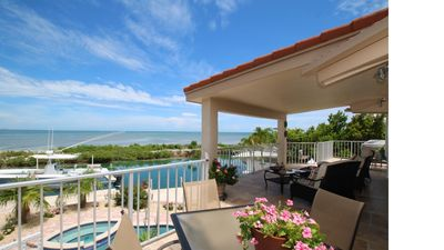 Photo for Oceanfront Jewel with pool and Dockage