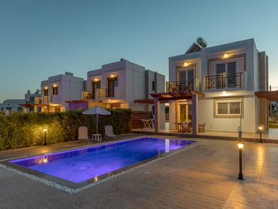 Photo for LUXURY VILLAS WITH PRIVATE POOL100m FROM SEA!BETTER PRICES FOR EARLY BOOKING