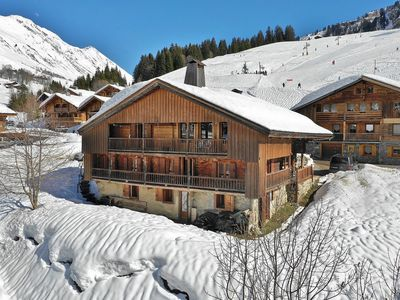 Photo for Fantasitc ski in ski out 5 bedroom trad farmhouse for up to 14 at the foot of the pistes!