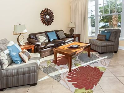 Photo for Spacious condo w/ balcony, bay views & community pool/hot tub!
