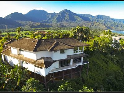 Photo for Upscale 3 bed plus den SWIMMING POOL & AC 3 minutes from Hanalei Bay