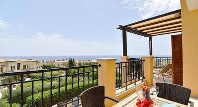 Photo for First floor 2 bedroom apartment 'CC11' - with stunning sea views, communal pool and resort facilities, Theseus Village on Aphrodite Hills Reso