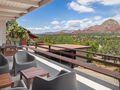 Photo for Breathtaking Views from this private mountain top getaway!!