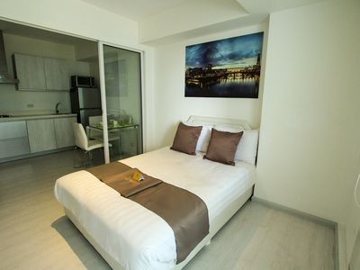 Photo for Cosy Beach View 1BR @Azure Santorini 507