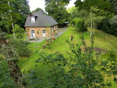 Photo for Exclusively renovated historical BAHNHOFSBAUDE with terrace, garden etc.