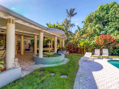 Photo for Canal-front home w/ private pool, hot tub & wet bar - dog-friendly!