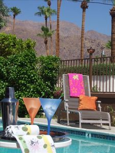 Enjoy our year round great weather by the pool with majestic mountain views.