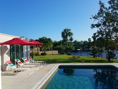 Photo for Stunning, newly remodeled. Walk to beach, paddle board, kayak from back yard.