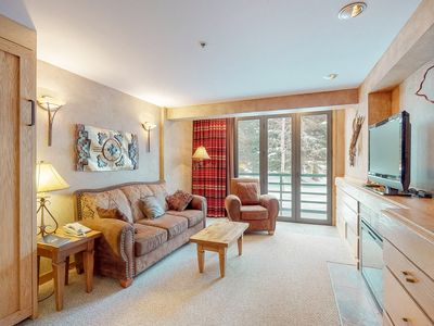 Photo for NEW LISTING! Ski-in/out condo with mountain views and access to hot tub & pool!