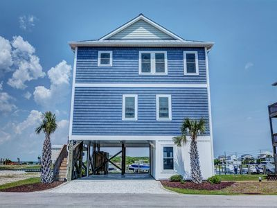 Photo for GOING COASTAL: 3BR/3BA, Sleeps 11, Topsail Beach, Elevator Community Pool & Dock