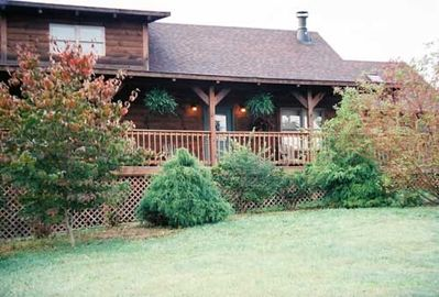 "Our Cabin- The ""Chestnut""-post landscaping"