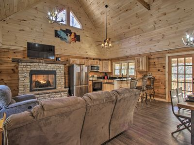 Photo for NEW! Gatlinburg Cabin w/ Hot Tub, Deck & Fireplace