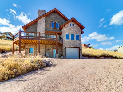 Photo for NEW LISTING! Spacious cabin w/pristine lake views & shared pool & hot tub access