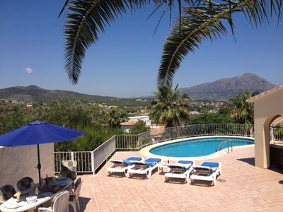 Photo for Javea Top Villa on the Med, Stunning Views Private Pool, All Day Sun,  A/C, WiFi