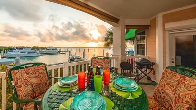 Photo for << A TOAST TO SUNSET @ SUNSET MARINA >> Serene Waterfront Condo + LAST KEY SERVICES...