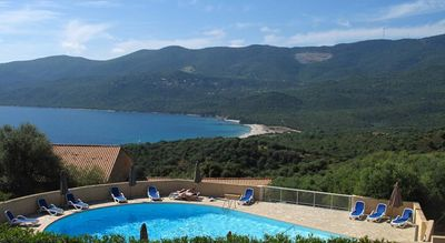 Photo for Villa T2 37m² in a quiet, tree-lined, heated pool near the sea