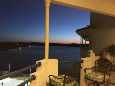 Photo for Homey Top Floor Water Views With Balcony on Lake Travis Gated Privated Island