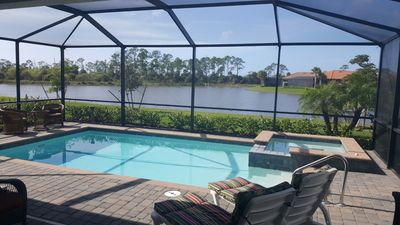 Photo for Spacious SFH w  pool/hot tub and wonderful view on the preserve and lake