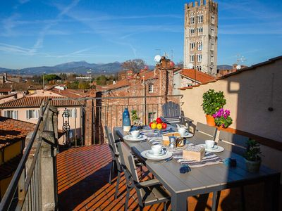 Photo for La Torretta - apartment in the center of Lucca with private terrace, WiFi, A/C.