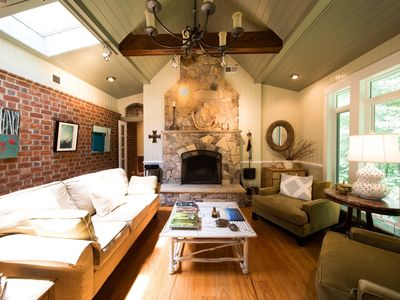 Photo for Cabell Cottage | Garth Rd area guest house just 7 miles to UVA w/ wood-burning fireplace, private screen deck, skylights, forest views