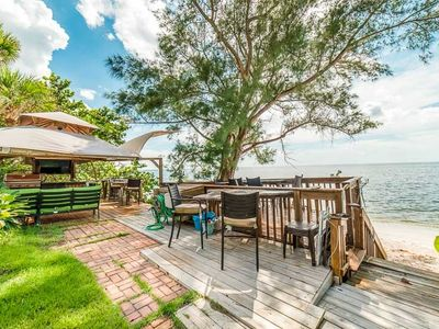 Gulf Front Home with Spacious Backyard and Private Beach