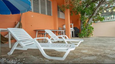 "Photo for Right on the Beach ""Blue Whales Apts"""