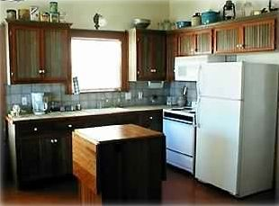 Fully equipped kitchen of Joy's Country Cabin