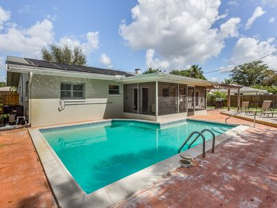 Photo for Single level, dog-friendly home w/ a private pool & furnished patio w/ grill
