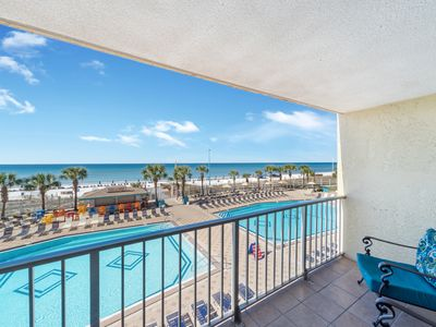 Photo for New! Coastal chic w/amazing views! Desirable 3rd floor, WiFi & Parking included!