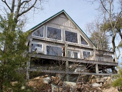 Photo for MOUNTAIN TOP COZY COTTAGE ON THE BLUFF WITH THE BEST AMAZING LONG RANGE VIEWS