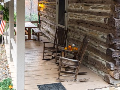 Photo for Historic & Romantic Cabin Escapade, fire place, birds galore, nestled in woods